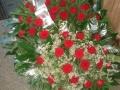 Wieniec pogrzebowy - czerwone róże - Olimp Łask