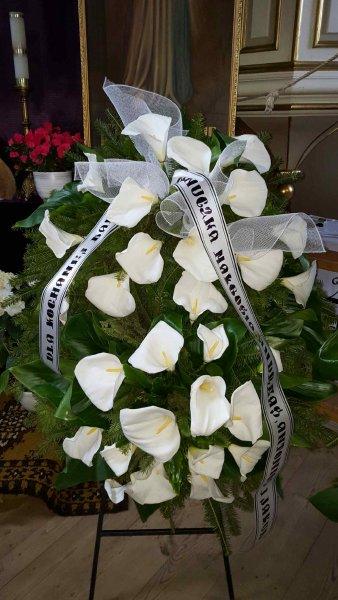 Zakład pogrzebowy Olimp Łask - wieniec pogrzebowy