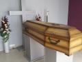 Trumna w sali pożegnań - Zakład pogrzebowy Olimp Łask