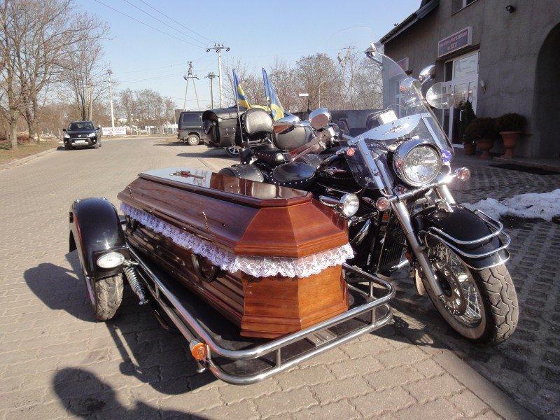 Motocykl - karawan pogrzebowy - Olimp Łask